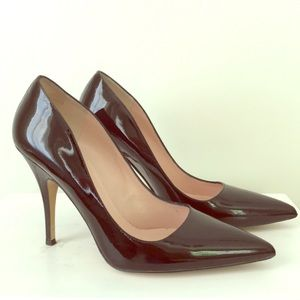 Kate Spade Black Patent Licorice Pointed Pumps